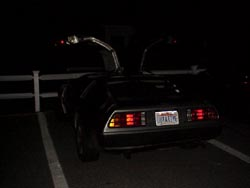 Back of the Back to the Future vehicle